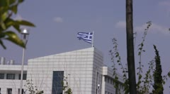 Flag of Greece 1 - stock footage
