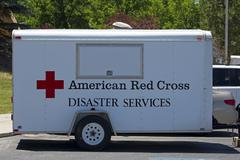 American Red Cross Disaster Services trailer 0679 Stock Photos
