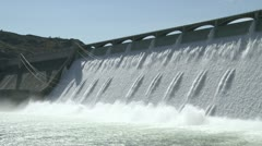 Grand Coulee Hydroelectric Dam cu 04 - stock footage