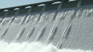 Grand Coulee Hydroelectric Dam with cables Stock Footage