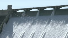 Grand Coulee Hydroelectric Dam with people - stock footage
