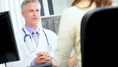 Medical Consultant Talking Office Manager - stock footage