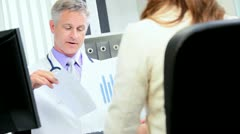 Doctor Discussing Orders Pharmaceutical Representative Stock Footage