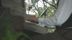 Ragtime Piano Player, Closeup of Hands Stock Footage