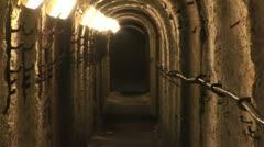 Underground World War Two Tunnel - stock footage