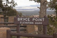 Stock Photo of Bryce Canyon National Park elevation sign 9781.jpg