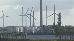 Stock Video Footage of Wind Turbines