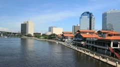 along the north bank Jacksonville - stock footage
