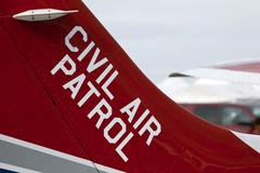 Aircraft Civil Air Patrol tail flash Stock Photos