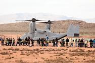 US Marines V22 Osprey airshow desert 9312.jpg Stock Photos