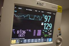 Heart monitor intensive care hospital 8925.jpg Stock Photos