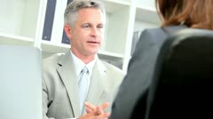 Business Consultants Working Future Proposal - stock footage