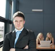 Portrait of a confident business man Stock Photos