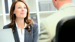 Financial Advisor Greeting Business Client - stock footage