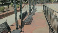 Bench swing Stock Footage