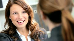 Banking Executive Meeting Female Business Client - stock footage
