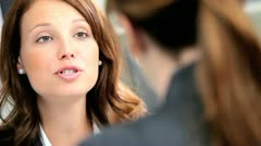 Female Business Consultant Working Client Presentation Stock Footage