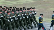 Russian soldiers with historical vintage wwii uniform Stock Footage