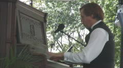 Old  Ragtime Piano Player Stock Footage