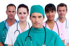 Self-assured medical staff - stock photo