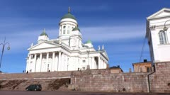 Helsinki 23 - Lutheran Cathedral Stock Footage