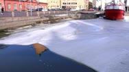 Helsinki 24 - frozen bay in downtown Stock Footage