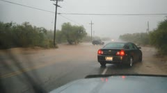 Flash flooding during monsoons in Arizona - the washes fill up in minutes - 4 Stock Footage