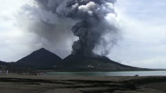 Volcano on Papua New Guinea Stock Footage