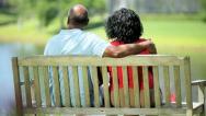 Senior ethnic couple enjoying together retirement  Stock Footage