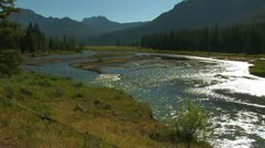 Sunlit River - stock footage