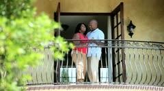 Senior African American dance couple have fun   Stock Footage