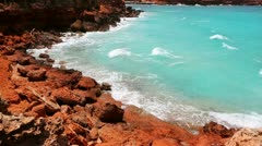 Cala Saona in Formentera Balearic island near Ibiza with turquoise sea Stock Footage