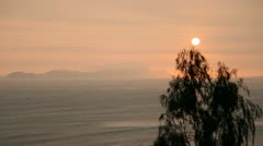 Sunset over Pacific Ocean Stock Footage