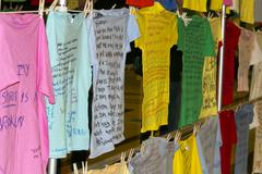Clothesline Project shirts Spirit - stock photo