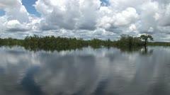 Ship at Japura in the Amazon region in Brazil Stock Footage