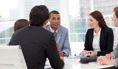 Ambitious business group having a meeting Stock Photos