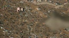 Big Graveyard (virgen de lourdes) Lima, Peru Stock Footage