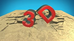 3d text crush Stock Footage
