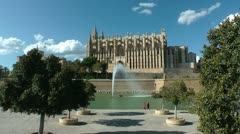 Palma de Mallorca, La Seu Cathedral Stock Footage