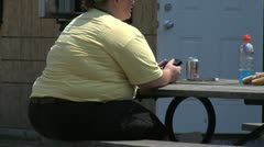 Obese, Overweight  Woman - stock footage