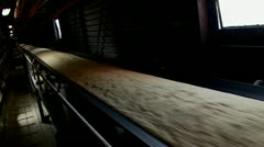 Raw Sugar on conveyor  belt Stock Footage