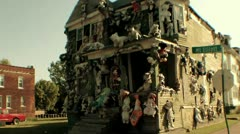 Heidelberg Project House Covered In Bears Stock Footage