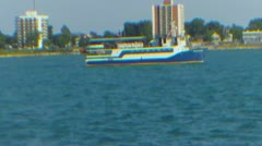 Ship On Water - stock footage