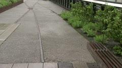 Highline Rainy Day Tracks - stock footage