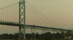 Ambassador Bridge Pan Shot (HD) Stock Footage