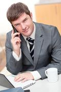 young assertive businessman - stock photo