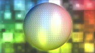 Stock Video Footage of Disco Ball Abstract Looping Background