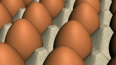 Brown Eggs in Crate Looping Animated Background Stock Footage