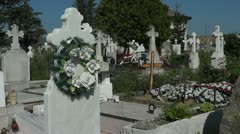 Christian Cemetery - Full HD Stock Footage