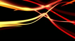 Red Gold Streaks on Black Looping Animated Background Stock Footage